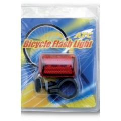 Kerékpár hátsó villogó elemes