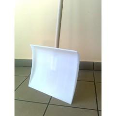 Fehér műanyag hólapát+nyél