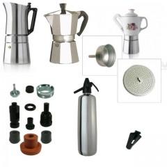 Kávéfőzők, szifonok, alkatrészek